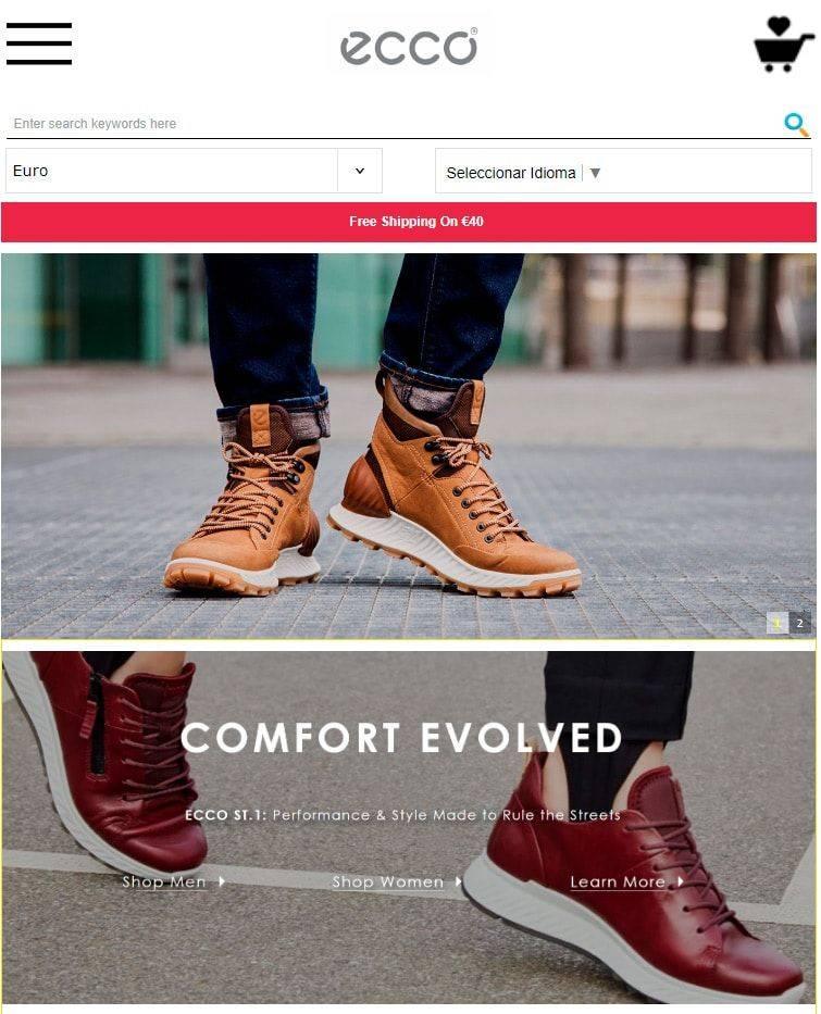 Eccoshopeu.com Tienda Online Falsa Calzado Ecco