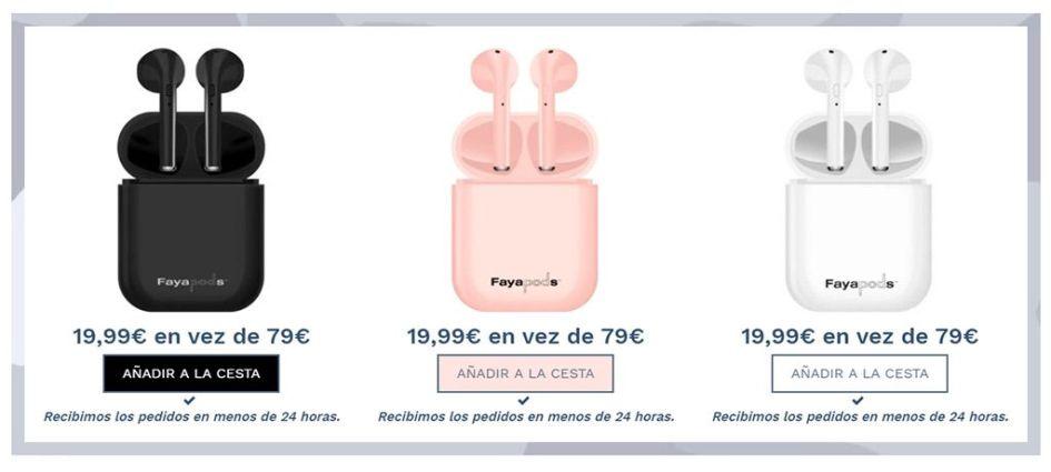 Fayapods.es Fake Wireless Headphones Online Shop