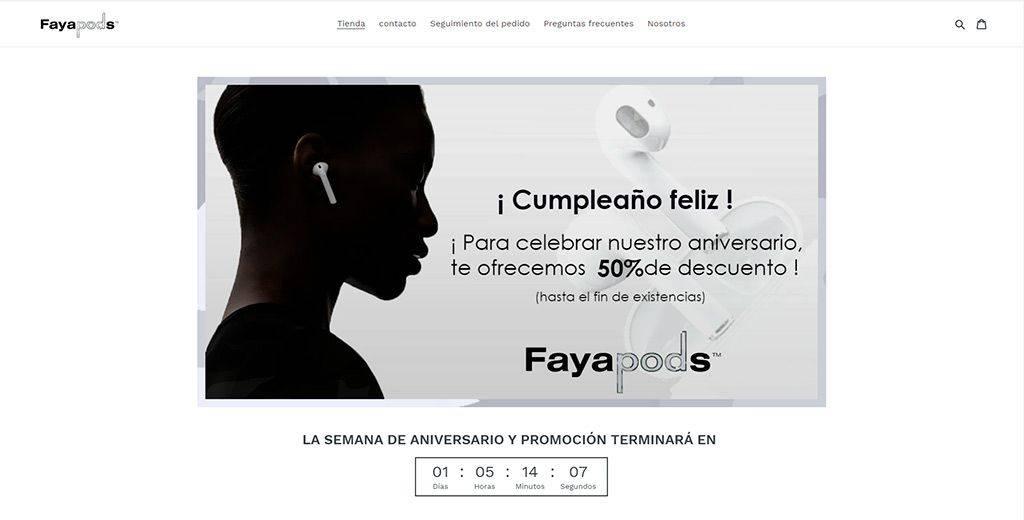 Fayapods.es Tienda Online Falsa Auriculares Inalambricos