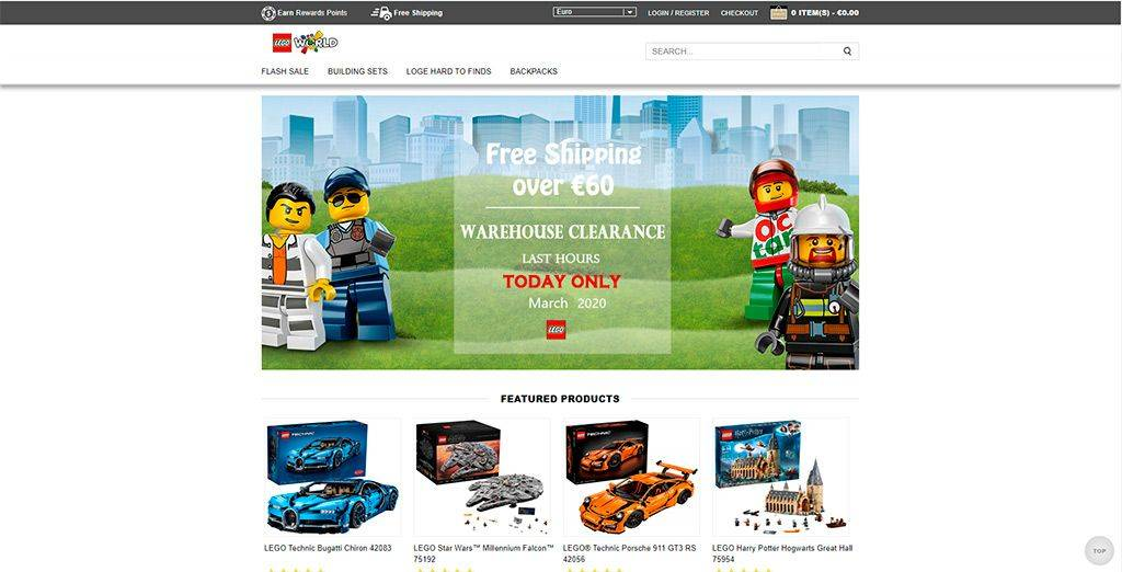 Viwau.com Tienda Online Falsa Lego