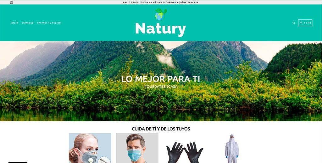 Naturybrand.com Tienda Online Falsa Mascarillas Coronavirus