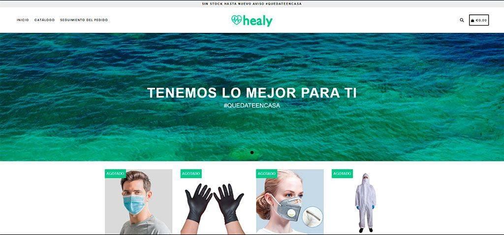 Healybrand.com Tienda Online Falsa Mascarillas Coronavirus