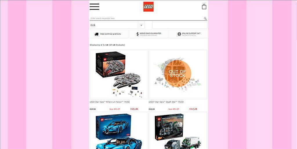 Reiytoys.com Tienda Online Falsa Lego
