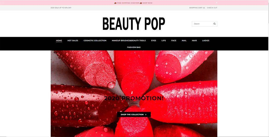 Beautypopus.com Tienda Online Falsa Productos Maquillaje