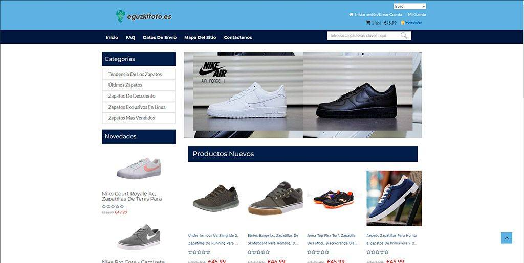 Eguzkifoto.es Tienda Online Falsa Calzado Puma Nike Adidas