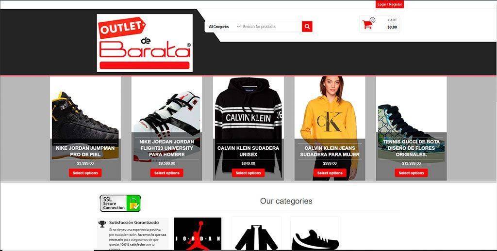 Outletdebarata.com Tienda Online Falsa Articulos Deportivos