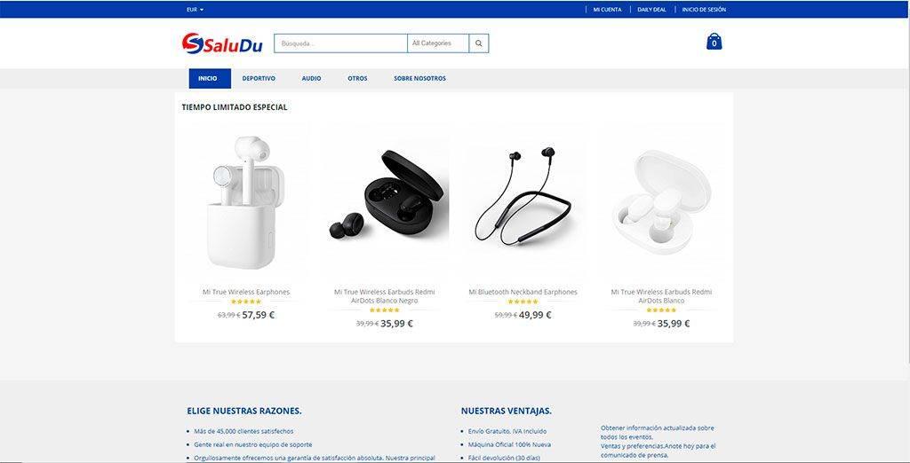 Saludu.com Tienda Online Falsa Electronica