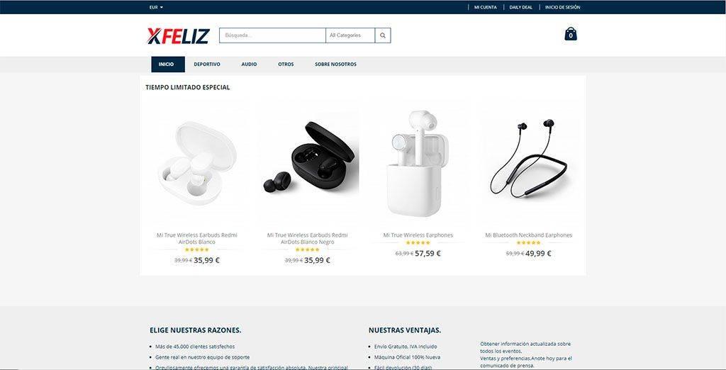 Xfeliz.com Tienda Online Falsa Tecnologia