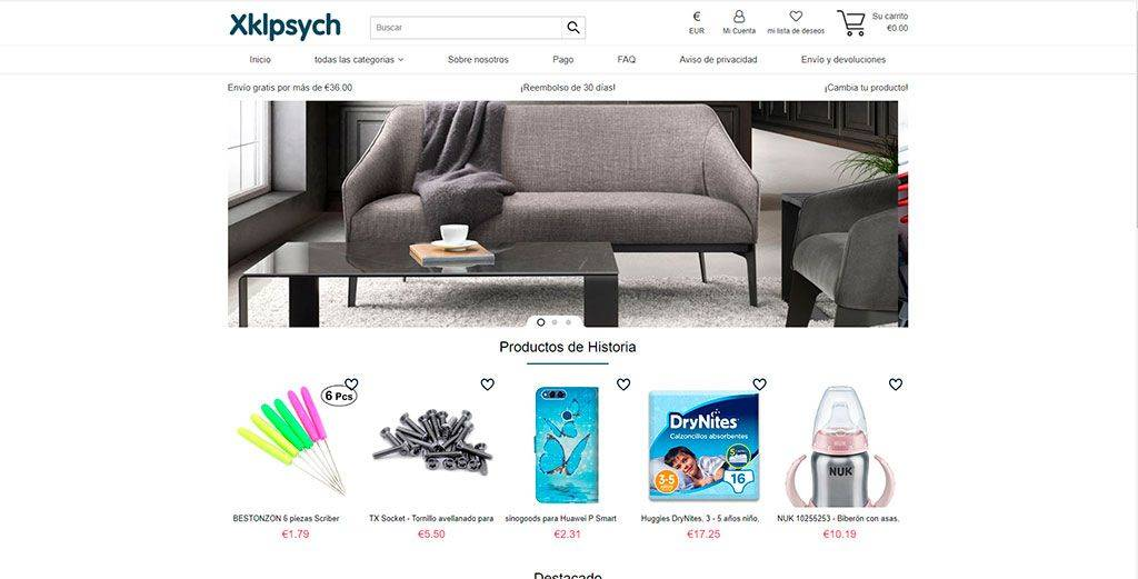 Xklpsycho.com Tienda Online Falsa Multiproducto