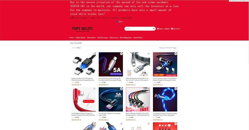 Pursevalleys.sr Tienda Online Falsa Electronica