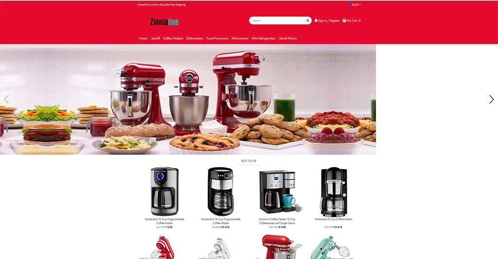 Zinnialive.com Tienda Online Falsa Electrodomesticos