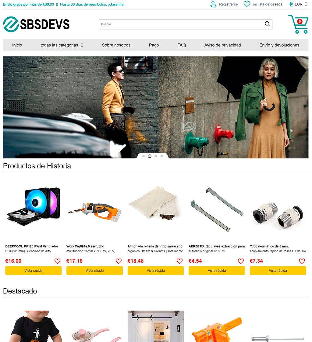 Sbsdevs.com Tienda Online Falsa Multiproducto