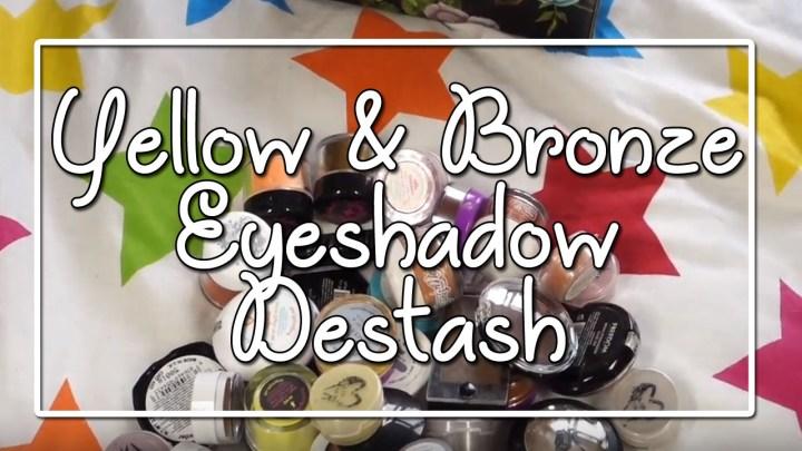 Yellow & Bronze Eyeshadow Destash