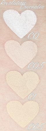 Revolution-Beauty-Define-And-Conceal-c0-c0.5-c1-c6.5-swatches