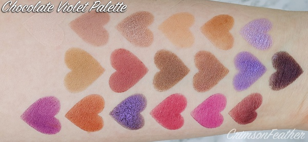 I-Heart-Revolution-Violet-Chocolate-Palette-Swatch