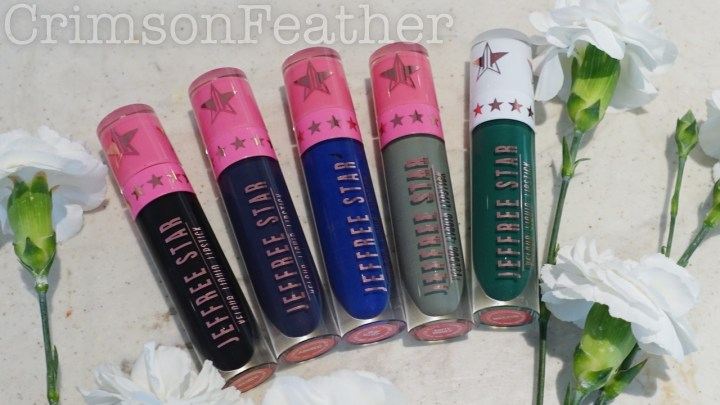 Jeffree Star Deep Cools – Weirdo, Abused, Blue Velvet, Dirty Money & Mistletoe – Review & Swatches