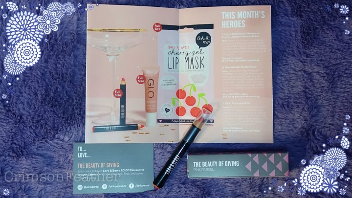 Pink-Parcel-December-2018-Lord-And-Berry-Lip-Crayon