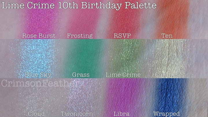 Lime-Crime-10th-Birthday-Palette-Swatches
