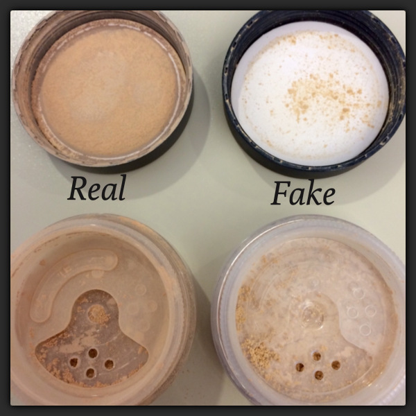 buyer beware counterfeit fake bare minerals foundation on ebay