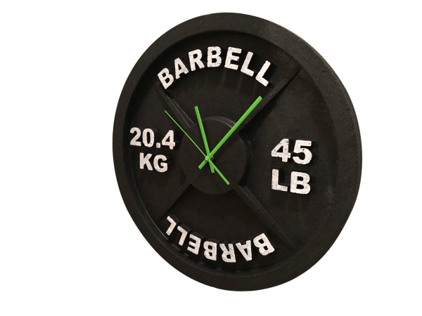 Barbell Wall Cock for Gym Decor