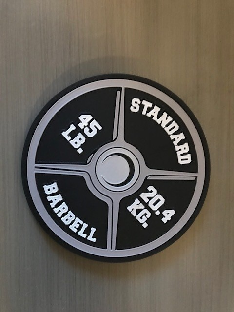 Fitness gifts, mothers day gifts, fathers day gifts, gym gifts, bodybuilder gifts, barbell weight set, weight set, 45 lb weight set, barbell coasters, fitness coasters, one of a kind, fitness, fake weights