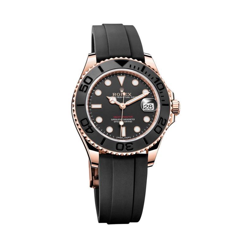 ساعة رولكس أويستر بربتشوال يخت ماستر المصنوعة من ذهب إيفروز بقطر 37 مم