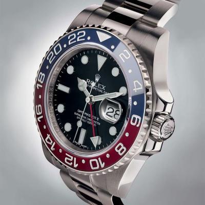 "ساعة رولكس أويستر بربتشوال جي ام تي 2 مع إطار بترصيعة ""بيبسي"""