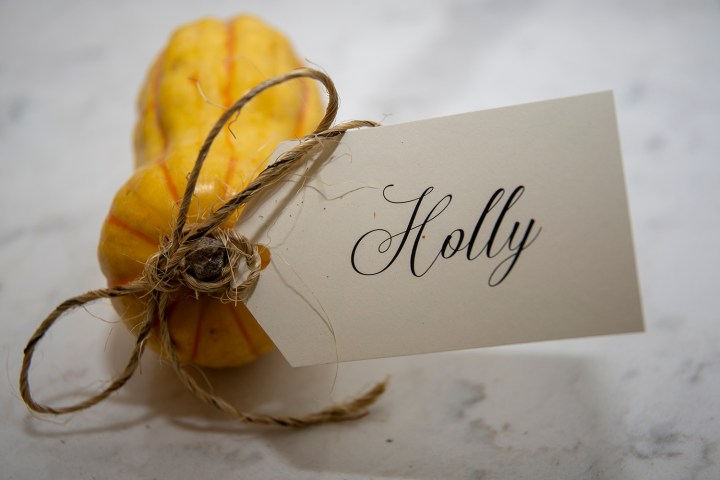 Thanksgiving Place Card Tags for your Tablescape