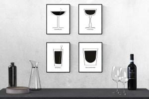 Free Printable Mid Century Cocktails