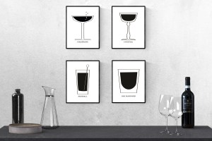 Free Printable Mid Century Cocktails