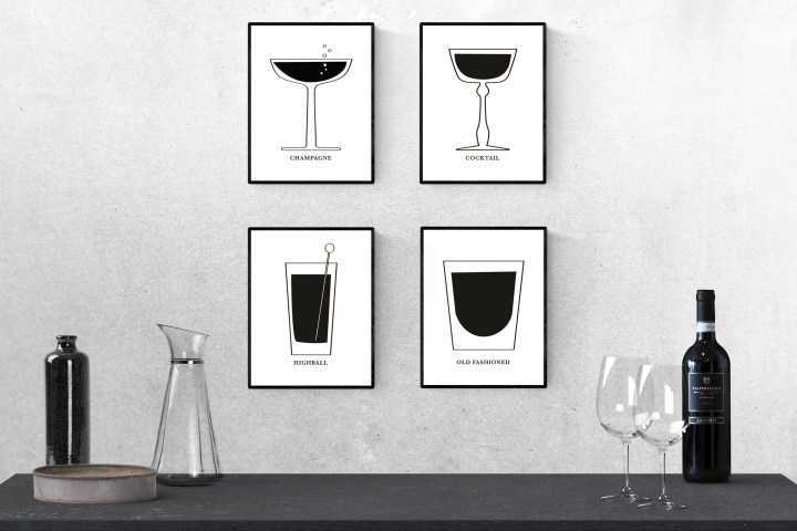 Printable Art: Mid-Century Modern Cocktail Glasses