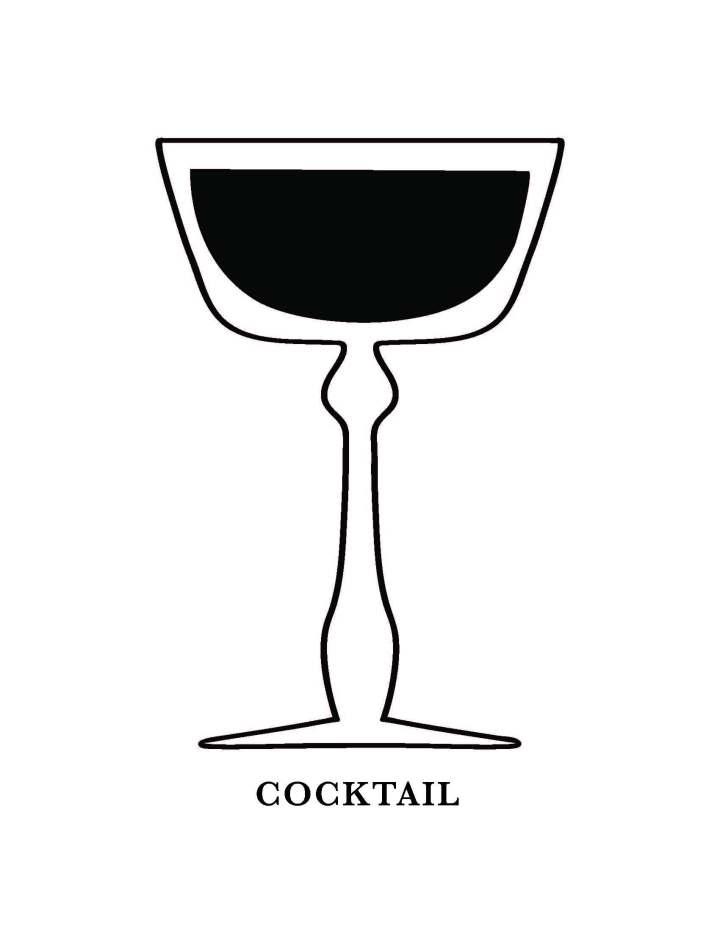 Cocktail Glass Art Printable