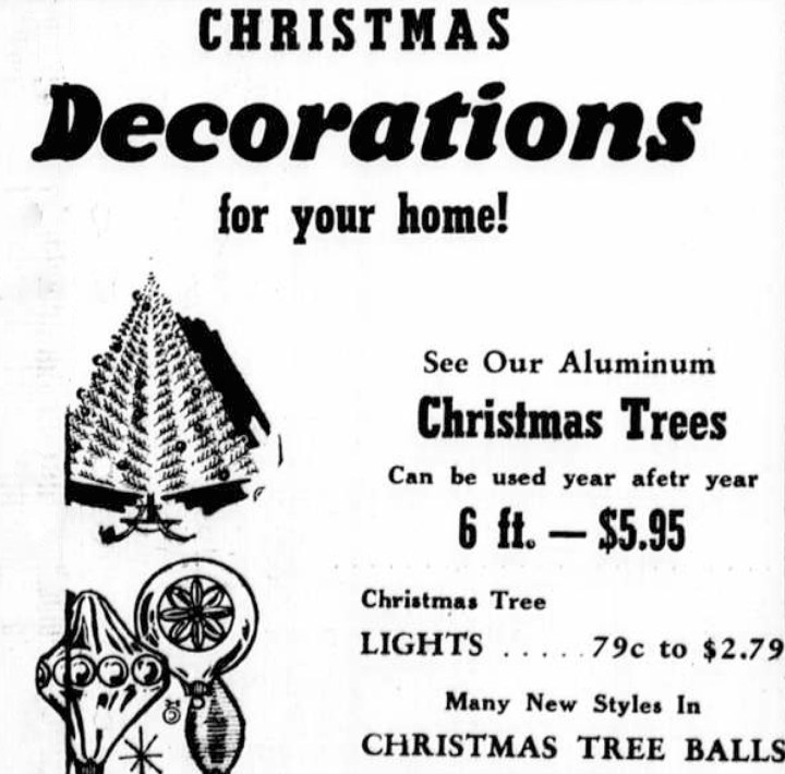 Vintage Aluminum Christmas Tree Advertisement
