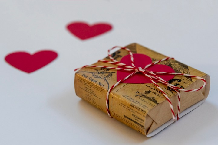 Valentine Soap Wrapped in Vintage Newspaper