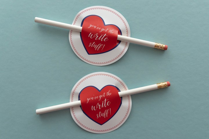 Free Printable Valentine Pencil Gift Tags