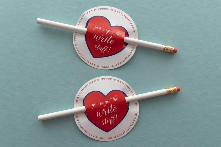 You've Got the Write Stuff: Free Printable Valentine Pencil Tags