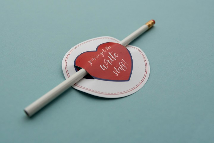 You've Got the Write Stuff Class Valentines with Pencils