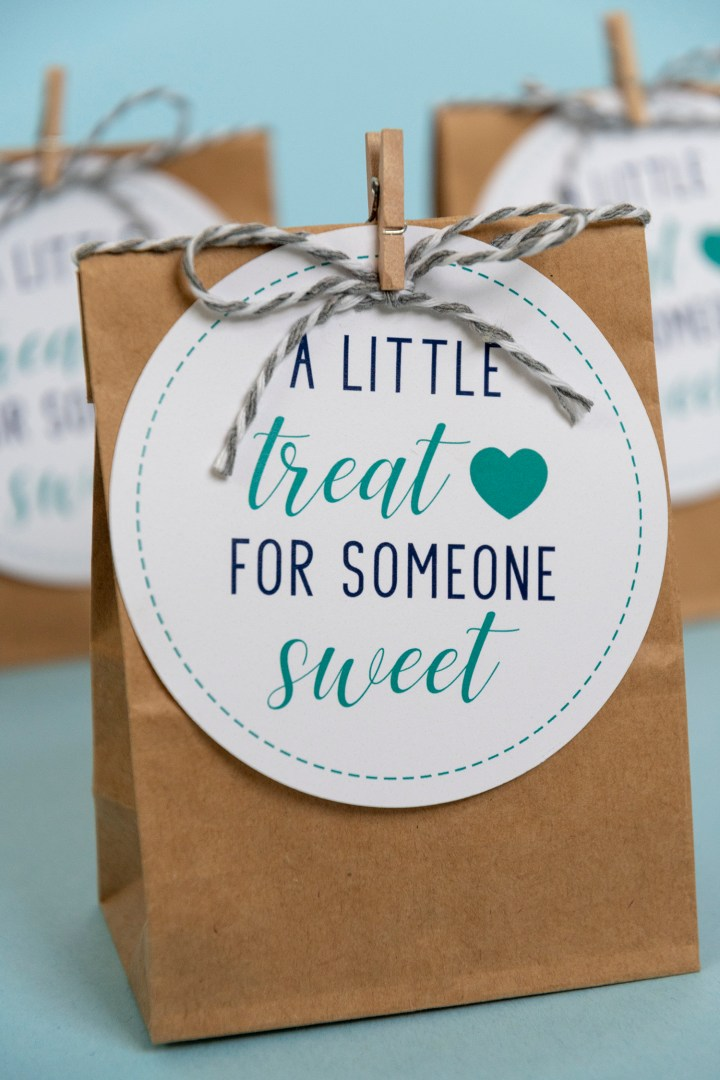 Blue Free Printable Gift Tags A Little Treat for Someone Sweet