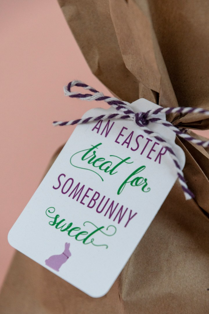 Easter Treat for Somebunny Sweet Gift Tag Free Printable