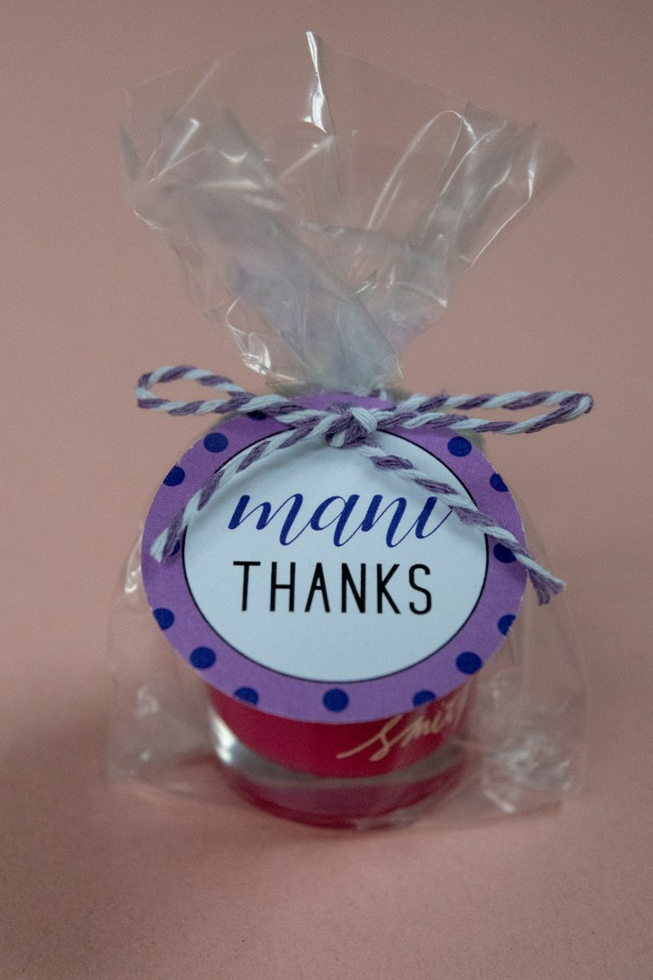 Mani Thanks Bridal Shower Favors for Nail Polish