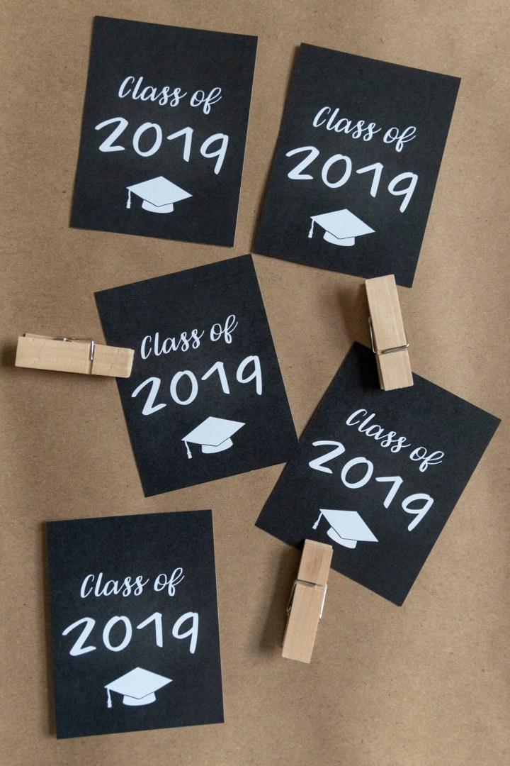 Free Printable High School Graduation Tags