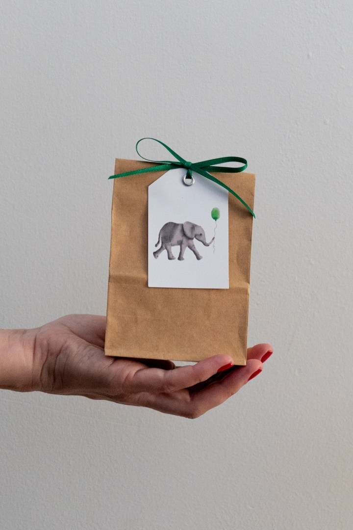 Free Printable Baby Elephant Gift Tags for Child's Birthday