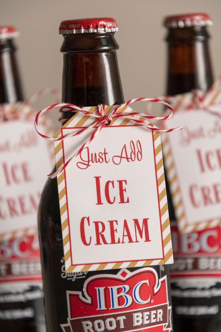 Just Add Ice Cream Tags for DIY Root Beer Float Kits