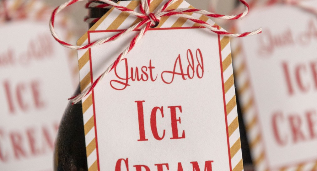 Just Add Ice Cream Printable Gift Tags
