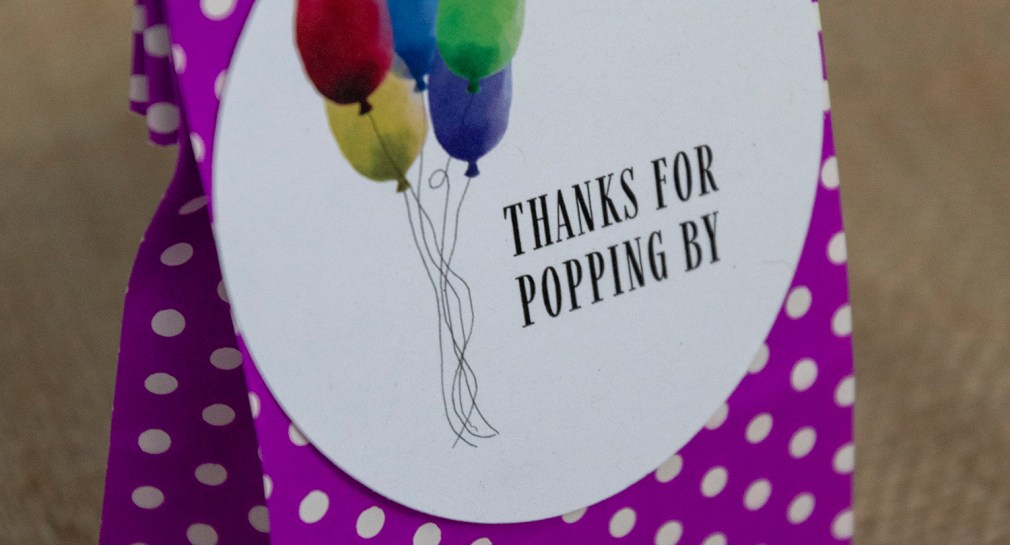 Thanks for Popping By Favor Tags for Popcorn Bags