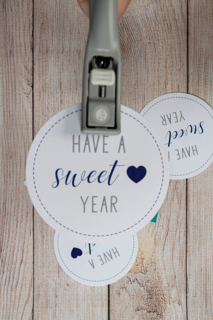 Blue Happy New Year's free printable tags