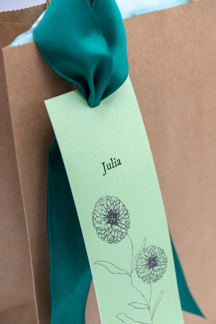 Rustic Flower Bookmark Gift Tags