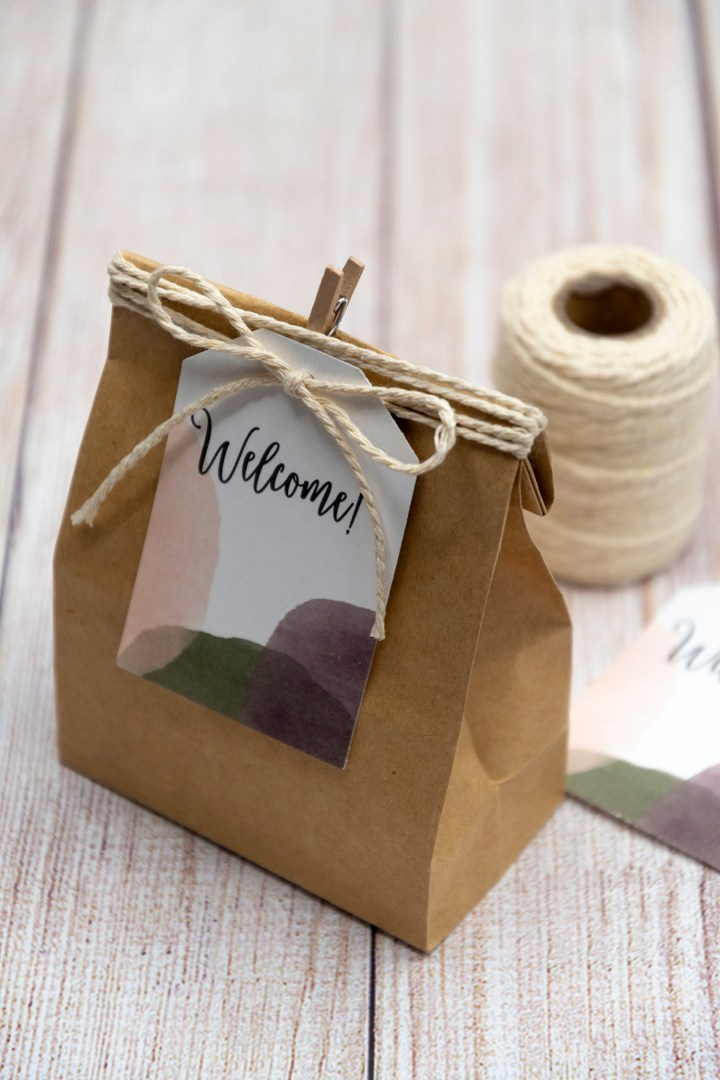 Modern Garden Welcome Bag Tags