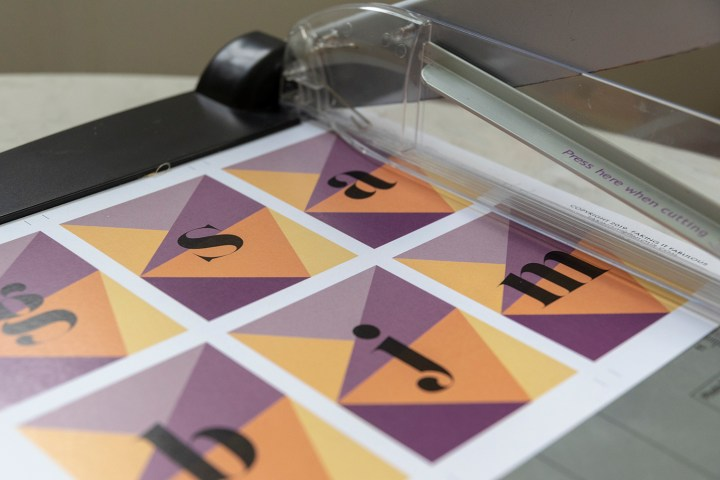 Cut out your tags using a paper cutter