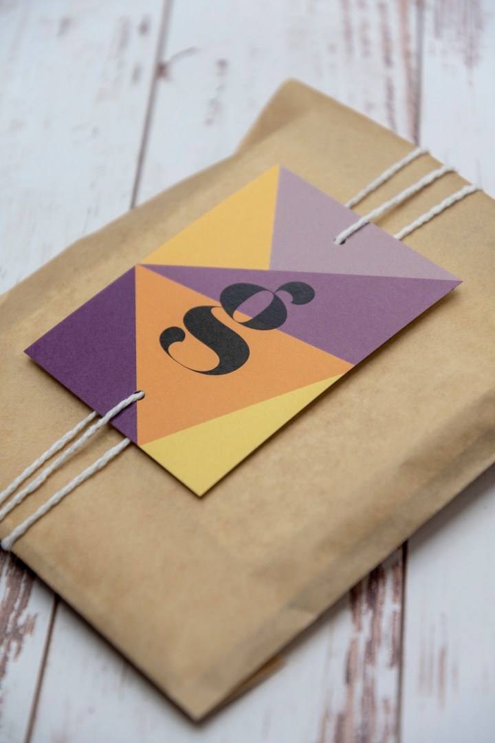 Modern initial gift tags free printable
